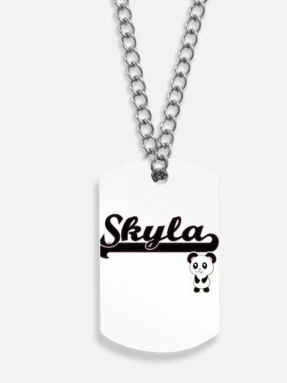 Skyla Classic Retro Name Design with Pand Dog Tags