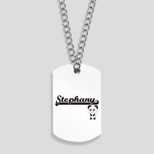 Stephany Classic Retro Name Design with P Dog Tags
