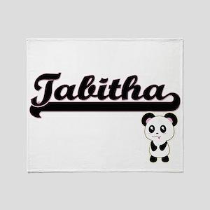 Tabitha Classic Retro Name Design wi Throw Blanket