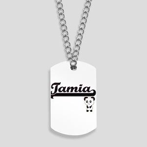 Tamia Classic Retro Name Design with Pand Dog Tags