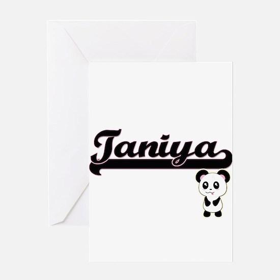 Taniya Classic Retro Name Design wi Greeting Cards