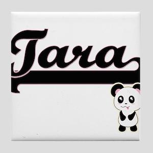 Tara Classic Retro Name Design with P Tile Coaster