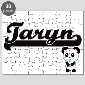 Taryn Classic Retro Name Design with Panda Puzzle