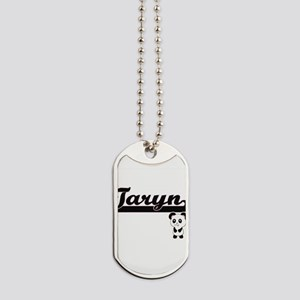 Taryn Classic Retro Name Design with Pand Dog Tags