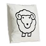 Sheep Burlap Throw Pillow
