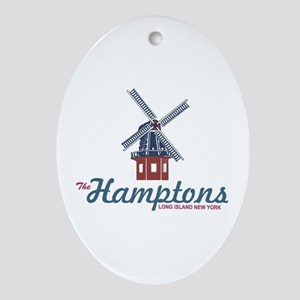 The Hamptons - Long Island. Ornament (oval)