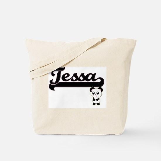 Tessa Classic Retro Name Design with Pand Tote Bag