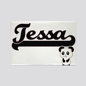 Tessa Classic Retro Name Design with Panda Magnets