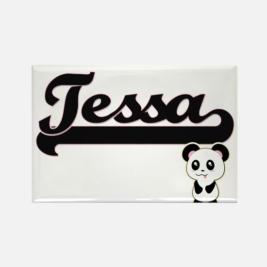 Tessa Classic Retro Name Design with Panda Magnets