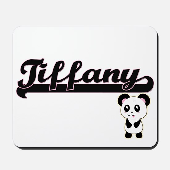 Tiffany Classic Retro Name Design with P Mousepad