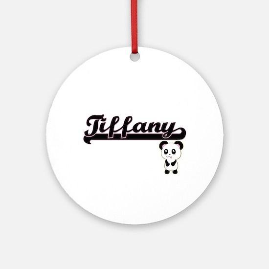 Tiffany Classic Retro Name Design Ornament (Round)
