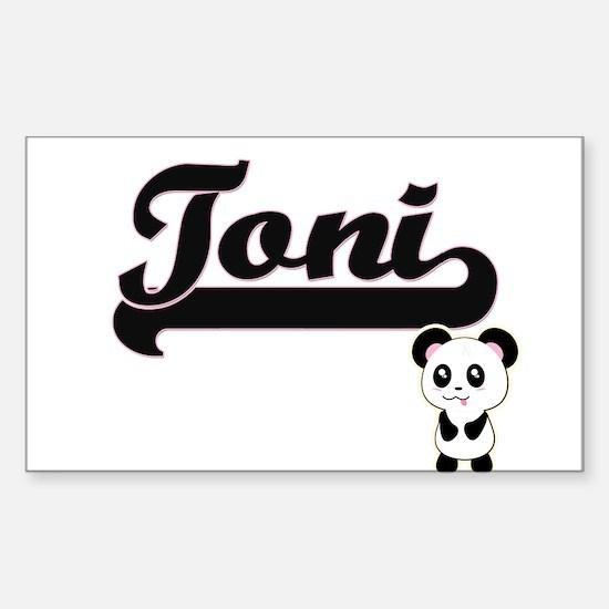 Toni Classic Retro Name Design with Panda Decal