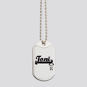 Toni Classic Retro Name Design with Panda Dog Tags