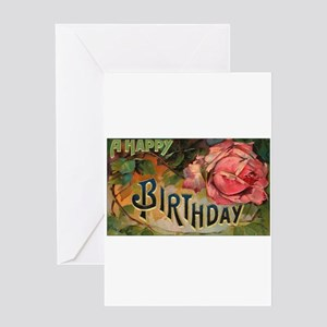 Victorian birthday greeting cards cafepress victorian birthday rose greeting card m4hsunfo