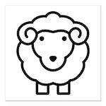 Sheep Square Car Magnet 3