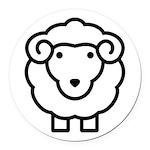 Sheep Round Car Magnet
