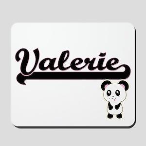Valerie Classic Retro Name Design with P Mousepad