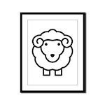 Sheep Framed Panel Print