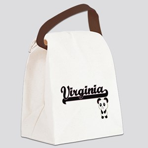 Virginia Classic Retro Name Desig Canvas Lunch Bag