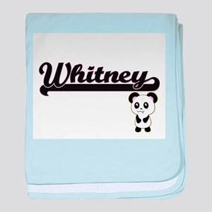 Whitney Classic Retro Name Design wit baby blanket