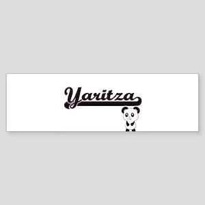 Yaritza Classic Retro Name Design w Bumper Sticker