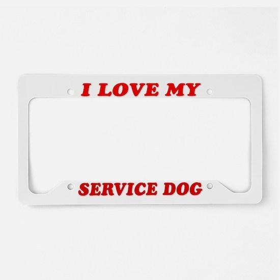 SERVICE DOG License Plate Holder