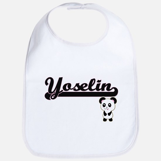 Yoselin Classic Retro Name Design with Panda Bib