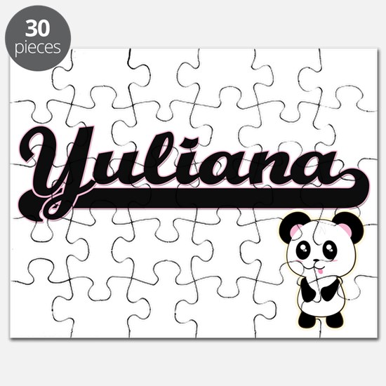 Yuliana Classic Retro Name Design with Pand Puzzle