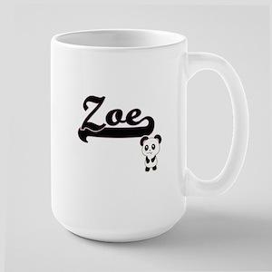 Zoe Classic Retro Name Design with Panda Mugs