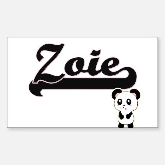 Zoie Classic Retro Name Design with Panda Decal