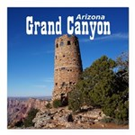 "Grand Canyon Square Car Magnet 3"" x 3"""