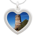 Grand Canyon Silver Heart Necklace