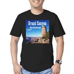 Grand Canyon Men's Fitted T-Shirt (dark)