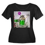 Drums Women's Plus Size Scoop Neck Dark T-Shirt