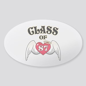 Class of '87 Sticker (Oval)