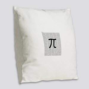 pi: circumference ratio: mathematics Burlap Throw