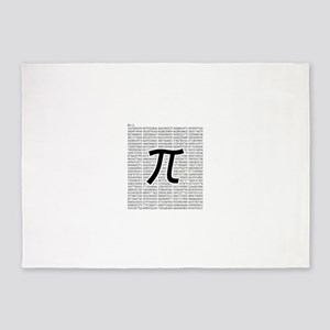 pi: circumference ratio: mathematics 5'x7'Area Rug