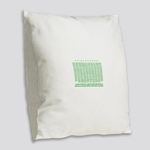 prime numbers: mathematics Burlap Throw Pillow