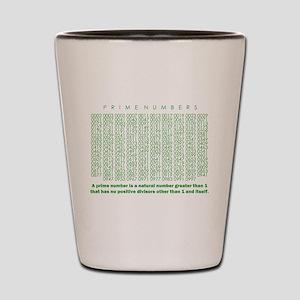 prime numbers: mathematics Shot Glass