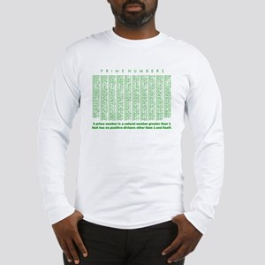 prime numbers: mathematics Long Sleeve T-Shirt
