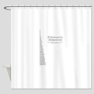 Fibonacci sequence: mathematics Shower Curtain