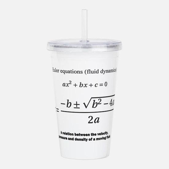 quadratic formula: Euler: mathematics Acrylic Doub