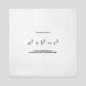 Pythagorean theorem: mathematics Queen Duvet