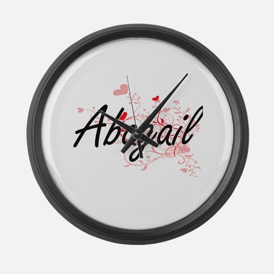 Abagail Artistic Name Design with Large Wall Clock