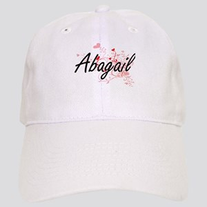 Abagail Artistic Name Design with Hearts Cap