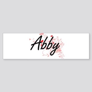 Abby Artistic Name Design with Hear Bumper Sticker