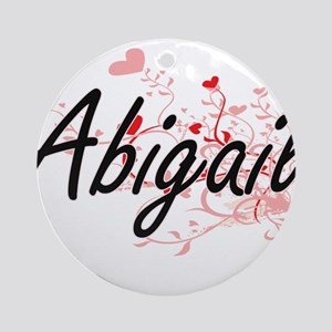 Abigail Artistic Name Design with Ornament (Round)