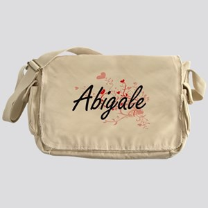 Abigale Artistic Name Design with He Messenger Bag