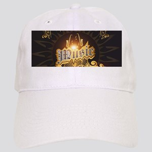 Music the word with saxophone Baseball Cap