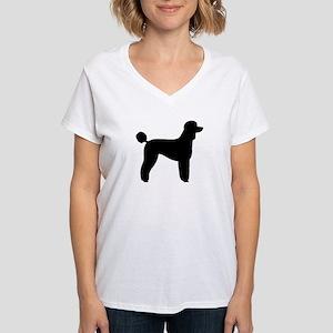 Standard Poodle Women's V-Neck T-Shirt